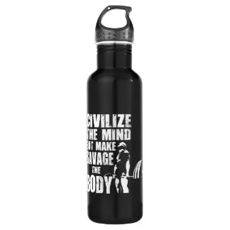 Gym and Fitness Motivation - Make Savage The Body 710 Ml Water Bottle