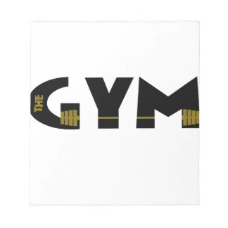 Gym and fitness notepad
