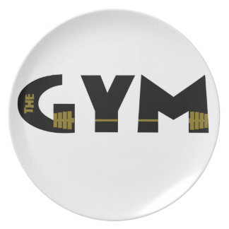 Gym and fitness plate