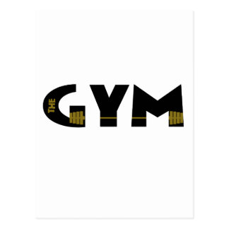Gym and fitness postcard