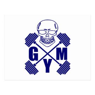 Gym and lifting postcard