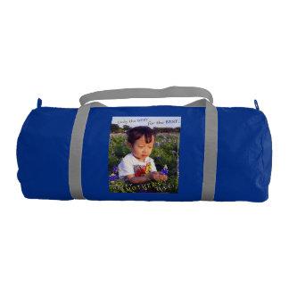 Gym Bag - Blue Bonnet Mother's Day Gym Duffel Bag