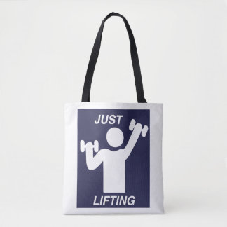 GYM BAG- JUST LIFTING TOTE BAG