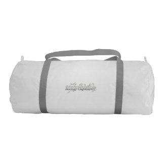 "gym bag saying, ""unbreakable"" gym duffel bag"