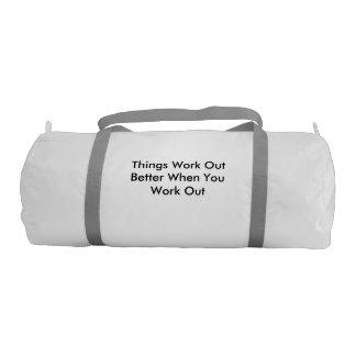gym bag with a message gym duffel bag
