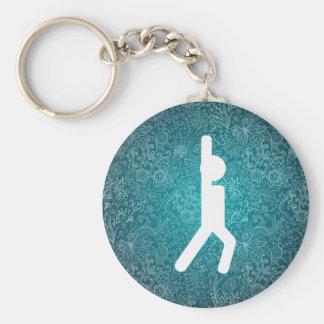 Gym Bendings Symbol Basic Round Button Key Ring