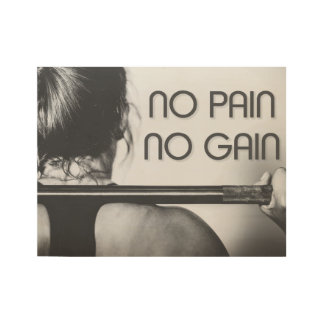 Gym Bodybuilding Fitness Motivational Wood Poster