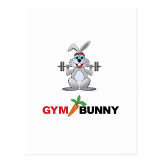 gym bunny 2 postcard