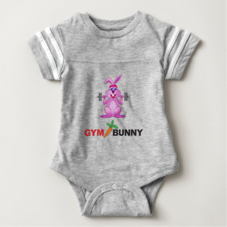gym bunny baby bodysuit