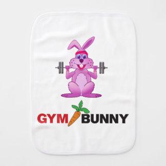 gym bunny burp cloth
