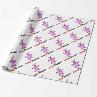 gym bunny wrapping paper