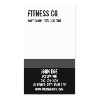 Gym Business Card 10 Class Pass Card