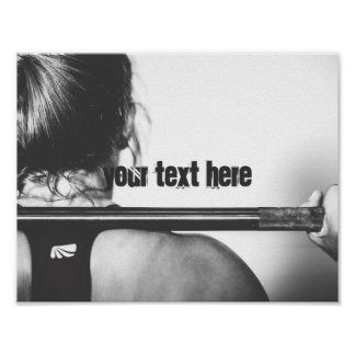 Gym customizable text motivational poster