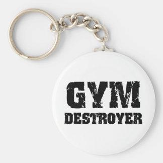 Gym Destroyer Basic Round Button Key Ring