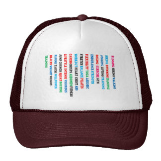 GYM EXERCISE Tag Words RUNNING HIKING WALKING Trucker Hat