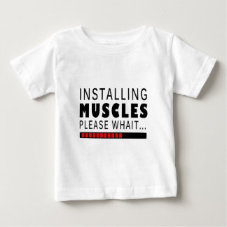 Gym fitness and muscles baby T-Shirt