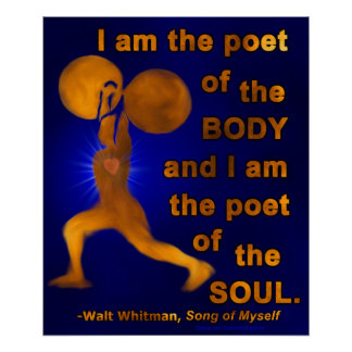 Gym Fitness Weightlifter Motivational Walt Whitman Poster