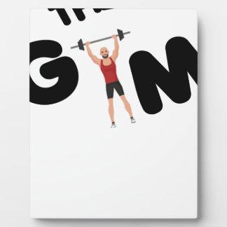 Gym funny texts plaque