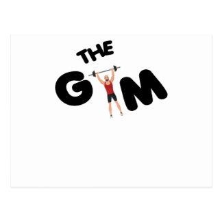 Gym funny texts postcard
