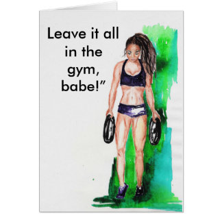 Gym Girl 2 Card