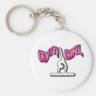 Gym Girl Apparel Basic Round Button Key Ring
