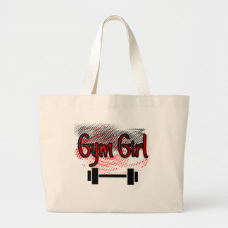 Gym Girl Large Tote Bag