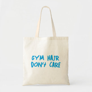 Gym Hair Don't Care Budget Tote Bag