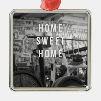 Gym - Home Sweet Home - Barbell - Workout Metal Ornament