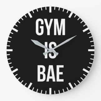 Gym Is Bae - Funny Workout Inspirational Large Clock
