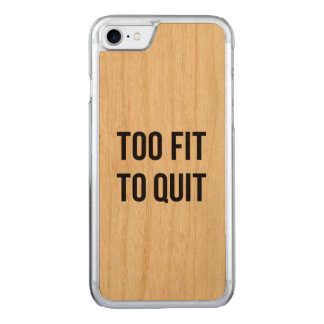 Gym Motivational Quotes Too Fit Black White Carved iPhone 8/7 Case