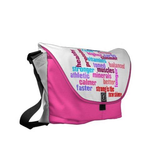 gym or sports motivational kit bag -pink messenger bags
