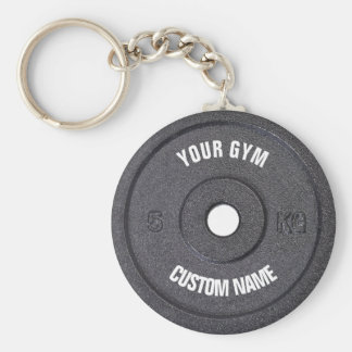 Gym Owner Curved Text Funny Keychain