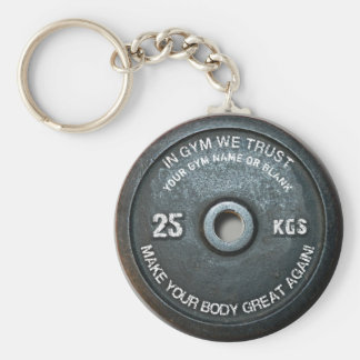 Gym Owner Fitness Workout Vintage Weight Funny Key Ring