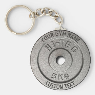 Gym Owner or User Fitness Funny Grey Edition Basic Round Button Key Ring