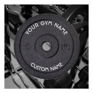 Gym Owner or User With Curved Text Funny Poster