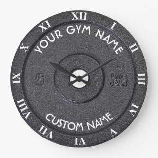 Gym Owner or User With Curved Text Funny Wall Clock