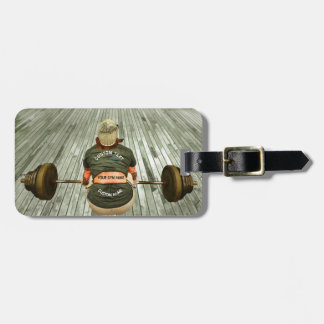 Gym Owner Weight Training Workout With Your Name Luggage Tag