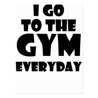gym postcard