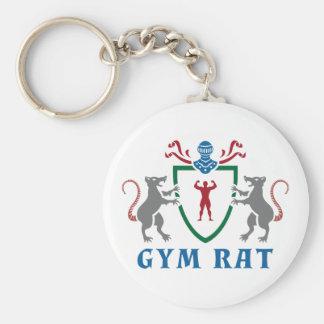 Gym Rat Blazon Keychain