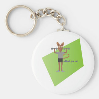 Gym Rat Keychain
