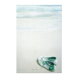 Gym Shoes on Beach Gallery Wrapped Canvas