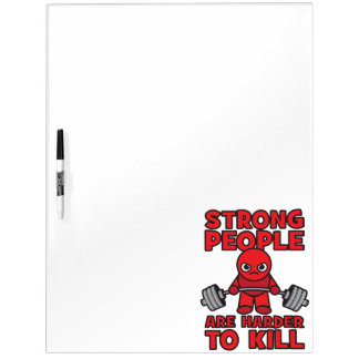Gym - Strong People Are Harder To Kill - Kawaii Dry Erase Board