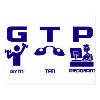 Gym Tan Program Postcard