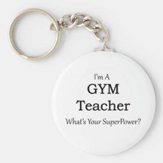 Gym Teacher Basic Round Button Key Ring