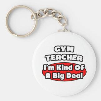 Gym Teacher...Big Deal Basic Round Button Key Ring