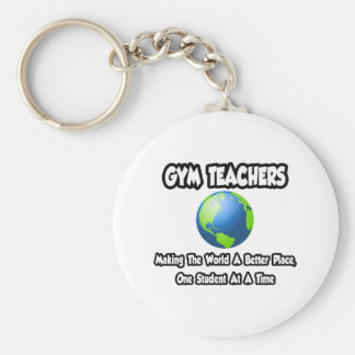 Gym Teachers...Making the World a Better Place Basic Round Button Key Ring
