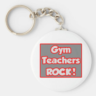 Gym Teachers Rock! Basic Round Button Key Ring