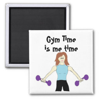 Gym Time is Me Time Square Magnet