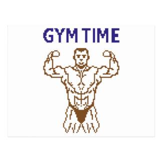 gym time pixelart postcard