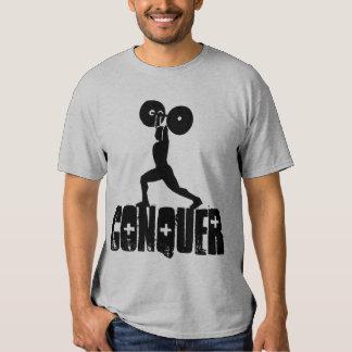 GYM & weightlifting CONQUER Tshirts